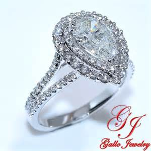 pear shaped halo engagement rings eng01233b halo pear shape engagement ring including center