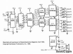 electronic music basic circuit circuit diagram With 7490 decade counter ic ic 7486 pin diagram 7490 decade counter ic 7490