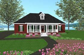 Southern Style House Plan 77407 with 3 Bed 2 Bath 2 Car