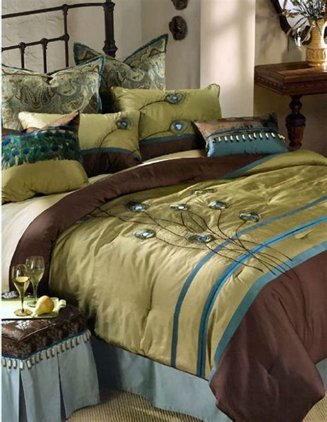 Peacock Colored Bedding by Peacock Bedding I Want Home Decor