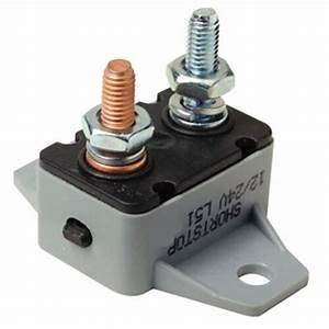 12 Or 24 Volt 50 Amp Manual Reset Circuit Breaker For