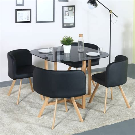 kitchen with dining table designs homes atiu glass 4 seater dining set finish color 8748