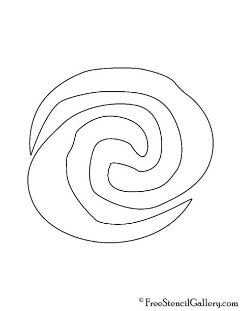 moana template moana symbol stencil free stencil gallery