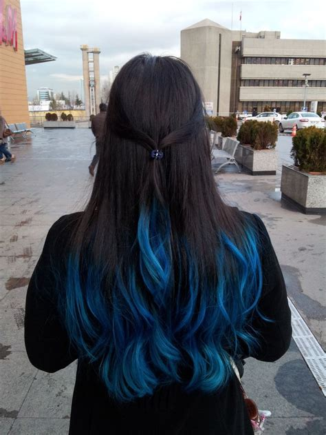 Hair With Blue by 1000 Images About Hair On Blue Tips Dyed