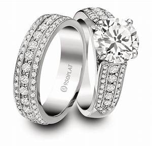 engagement ring and wedding band set for him and her jeff With platinum wedding rings for him