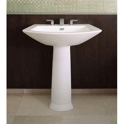 pedestal sink bathroom ideas  pinterest