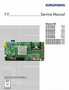 Grundig 40vle6520bl Chassis Ku  Service Manual  Repair