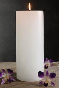 4x12 White Candle Unscented