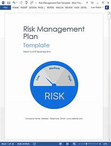 liability template risk management plan template ms word excel templates