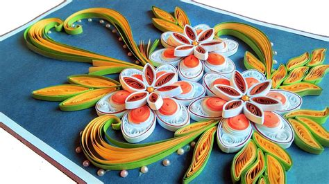 quill paper    beautiful quilling flowers