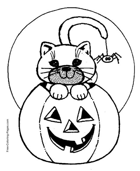 halloween coloring pages spider sheets  print