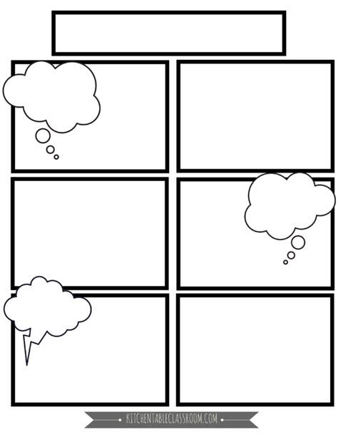 comic book templates  homeschool writing  kitchen