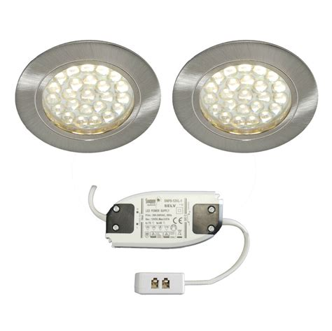 Cupboard Led Lighting by 2 X Recessed Led Cabinet Light Kitchen Cupboard