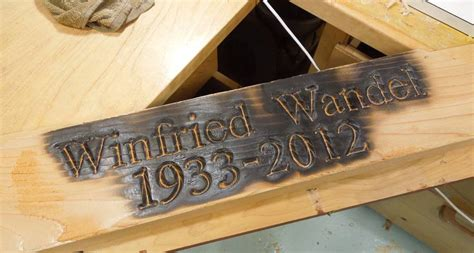 burning letters into wood wooden grave marker 92432