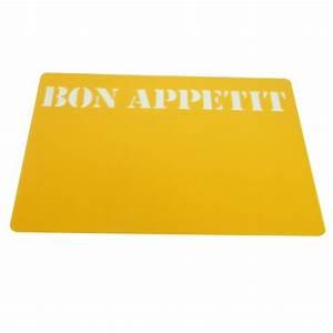 Set De Table Jaune : 4 set de table bon appetit jaune maison fut e ~ Teatrodelosmanantiales.com Idées de Décoration