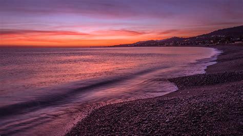 hd early morning shore desktop wallpaper