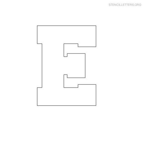 Block Letter Templates by Stencil Letter Block E C Stencils