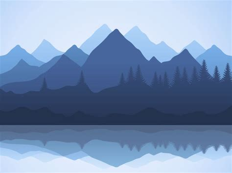 mountain illustration ideas  pinterest