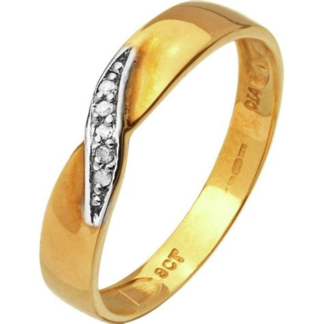 buy 9ct gold accent twist wedding ring 3mm at argos co uk your shop for