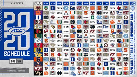 ACC releases schedules for its 15 football teams – The ...
