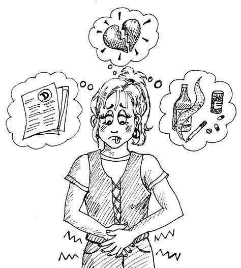 teen stress  stomach distress  national parenting