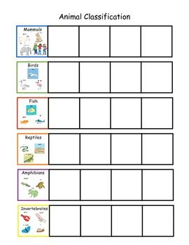 Animal Classification Sorting Board by Interactive