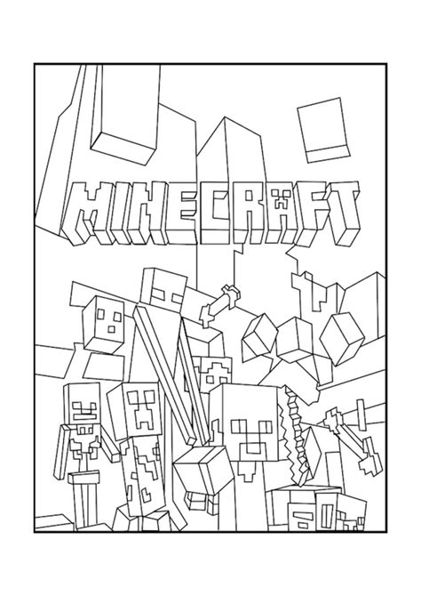 minecraft mobs coloring page  minecraft coloring pages lego coloring pages halloween