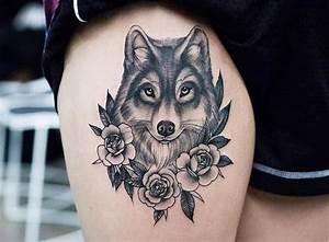 Loup Tatouage Signification : tatouage loup femme mandala ~ Dallasstarsshop.com Idées de Décoration