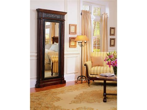 Rustic Wall Mount Wood Mirrored Jewelry Armoire