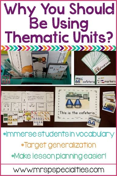 thematic units  ps specialties