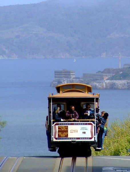 Cable Car with Alcatraz backdrop