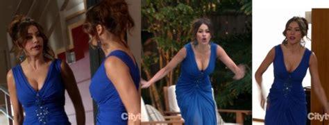 dress television show modern family sofia vergara blue dress dress evening dress
