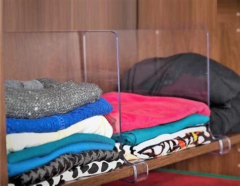 storagemaid acrylic shelf divider set closet shelf