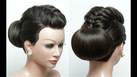 Bridal Hairstyle For Long Hair Tutorial. Wedding Updo. Bun