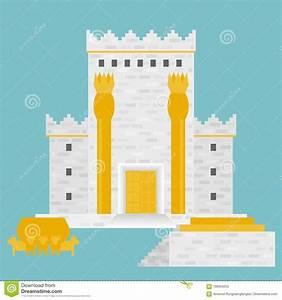 King Solomon`s temple stock vector. Illustration of ...