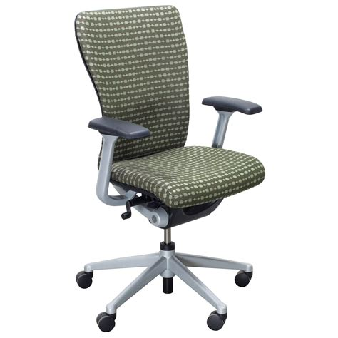 haworth zody used task chair green national office