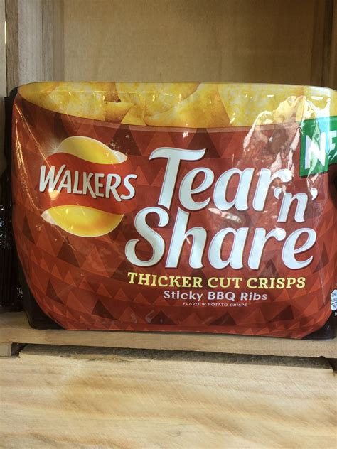 flavour crisps walkers tear ribs sticky bbq low
