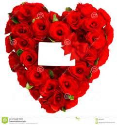 souhait de mariage coeur des fleurs roses avec la carte blanche photo stock image 38808987