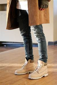 Timberlands with skinny jeans and coat. #style #men #man # ...