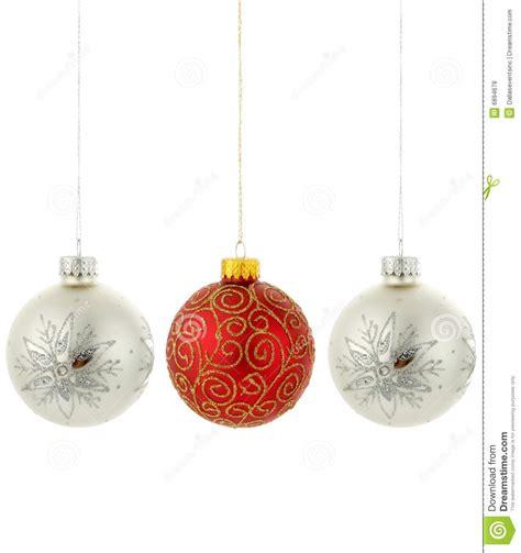 christmas tree ornaments hanging royalty free stock photos