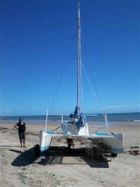 Catamaran Sailing From Start To Finish by Veleiro Catamaran Hobie Cat Muito Bom Estado Em R