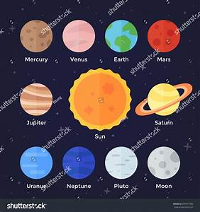 Vector Flat Icon Set Solar System Stock Vector 289877900 ...
