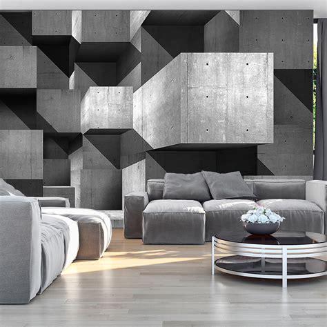 tapeten beton design vlies fototapete 3 farben zur auswahl tapeten beton 3d grau f a 0193 a b ebay
