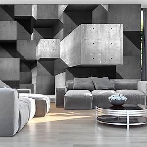 vlies fototapete 3 farben zur auswahl tapeten beton 3d With markise balkon mit living wall tapete