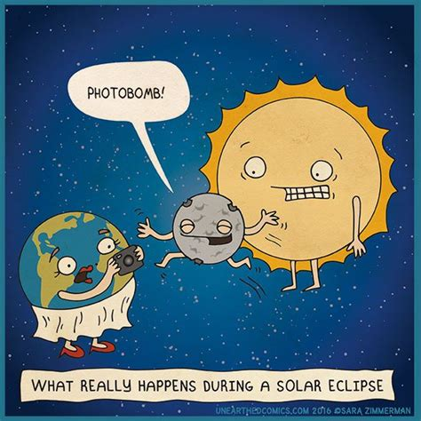 Solar Eclipse Memes - what really happens during a solar eclipse cornyspacejoke just for fun and stem