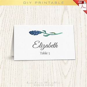 floral wedding placecard template printable escort cards With templates for place cards for weddings