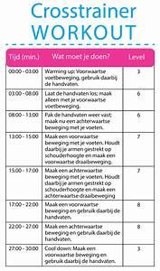 Cardio schema vetverbranding