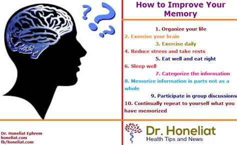 how to your how to improve your memory the latest news dr honeliat ephrem tufer