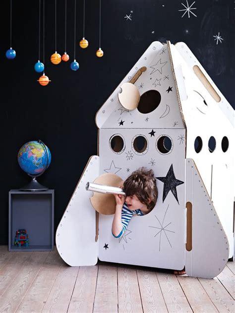 diy cardboard rocket ship homemydesign
