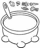 Soup Esau Jacob Coloring Stew Pot Craft Crafts Bible Vegetable Sunday Growing Bowl Preschool Stone Manualidades Activities Toddler Spoon Dominical sketch template